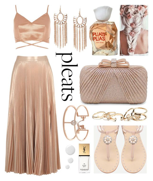 """Untitled #311"" by lola-mattel ❤ liked on Polyvore featuring Issey Miyake, A.L.C., River Island, La Regale, GUESS, Messika, Yves Saint Laurent and Topshop"