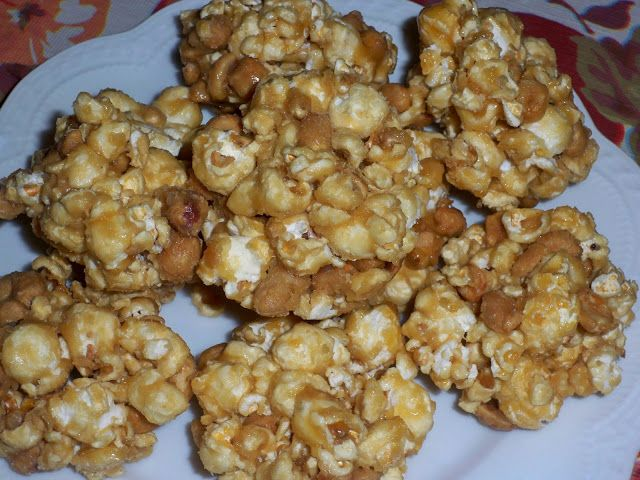 Salted Caramel Popcorn Balls without Corn Syrup | recipe by Kristy @ Little Natural Cottage