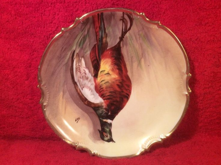 Antique Hand Painted by Known Limoges Artist Still Life Game Bird Plate c.1899+  | eBay