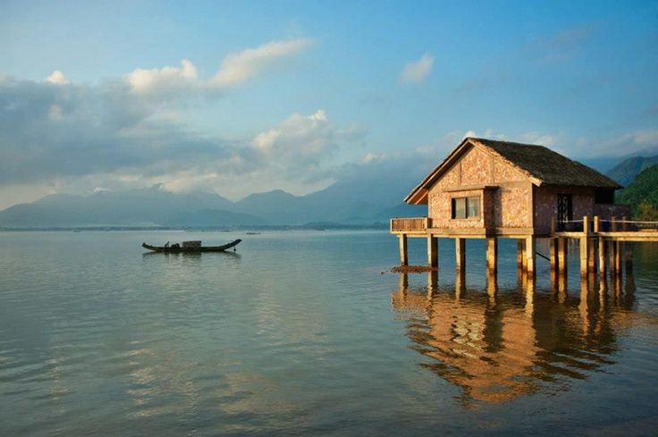 #2 - Hue, Vietnam. Lounging on the beach for a honeymoon is nothing to sneeze at, but the newlyweds who want something different should try staying at one of these luxury hotels in an these unusual honeymoon locations. Pictured: Vedana Lagoon Resort and Spa in Hue, Vietnam