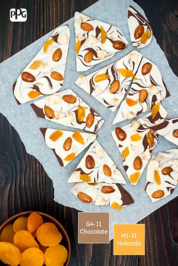 Barras de chocolate con semillas y frutas deshidratadas: una colorida y…