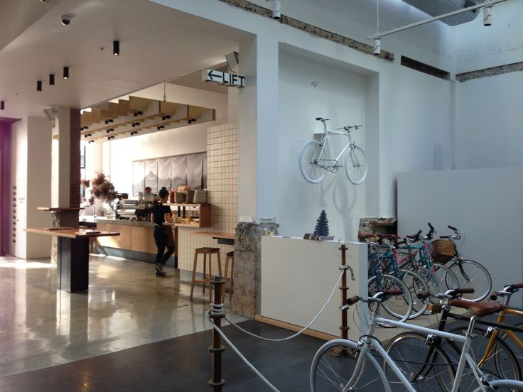 Cool design, coffee and bikes.