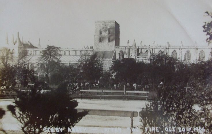 Selby Abbey Fire 1906 - Selby Town