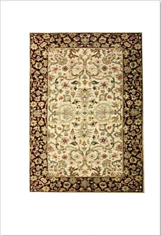 Lovely Ghom Design of indian traditional rugs online.   Intricately hand knotted in Jaipur India, of Persian Antique Ghom motif. Superb fine motif woven with fine New Zealand wool.  ON SALE