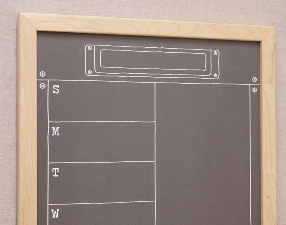 Tailor Made Whiteboards' Large Weekly Calendar White Board makes a great calendar / menu planner / family command center!