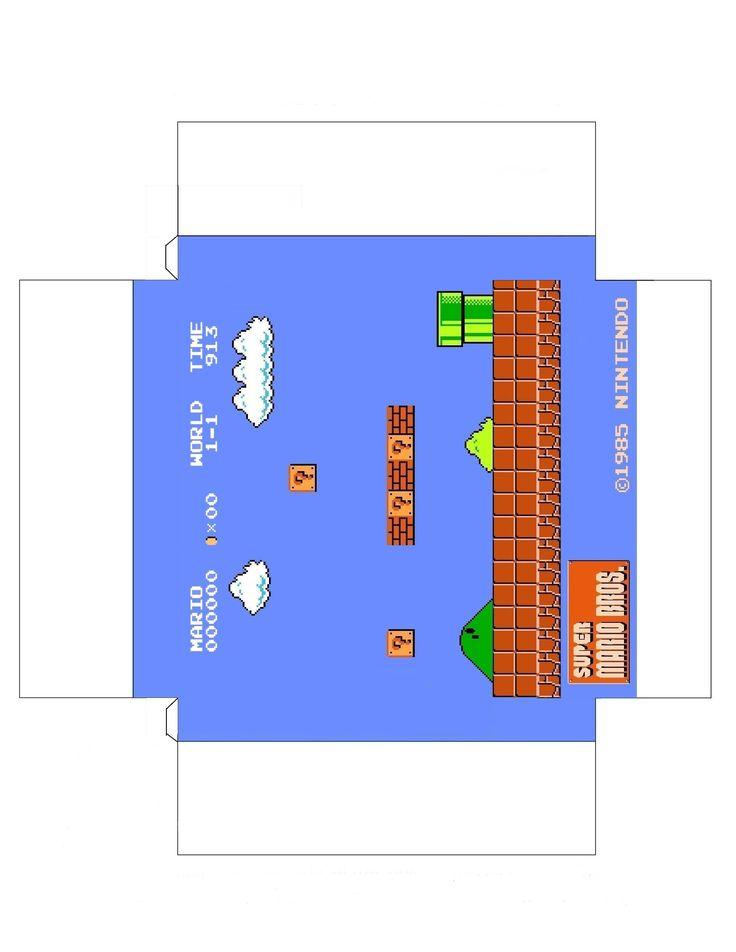 Super Mario Bros diorama papercraft