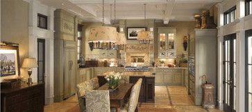 GE Monogram English Country Kitchen traditional major kitchen appliances