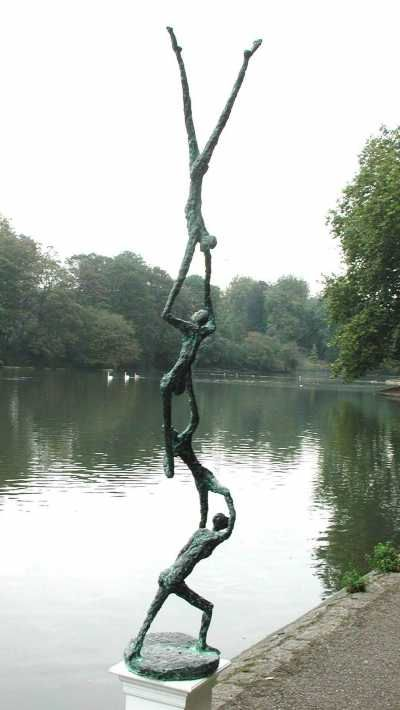 Bronze Figurative Abstract sculpture by artist Michael Speller titled: 'Family Tree'
