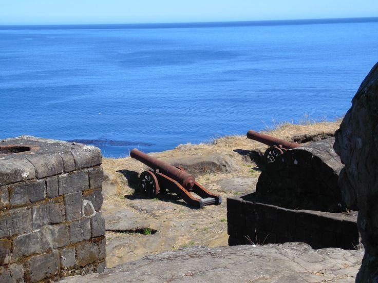 cañones en fuerte de Niebla.