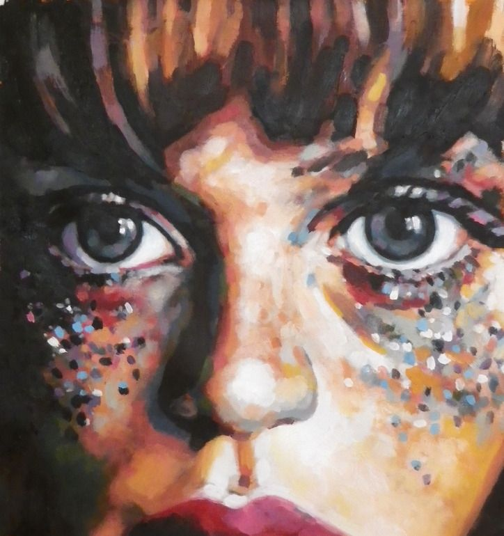 "Saatchi Online Artist: thomas saliot; Oil, Painting ""Glitters"""