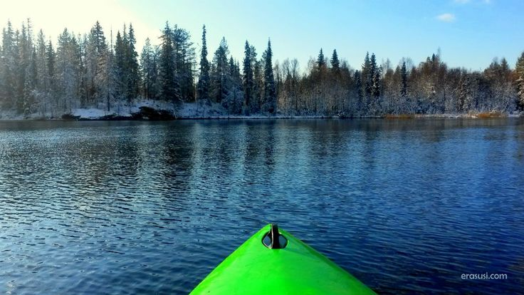 Might be the last kayaking in this autumn in Ruka
