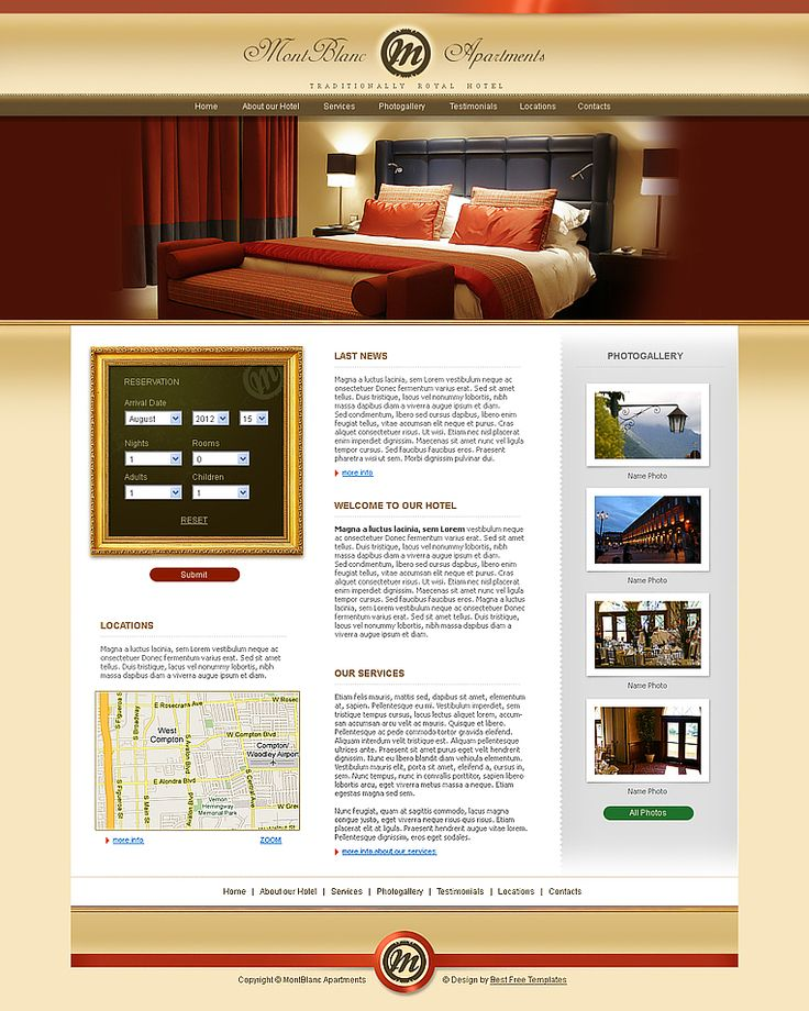 17 best images about free hotel html templates on for Hotel web design