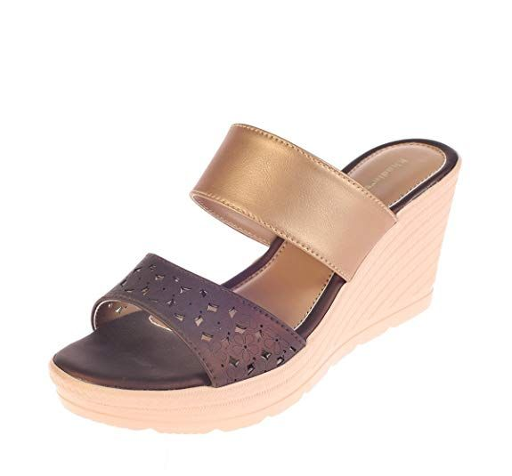 Womens faux leather, Leather wedges