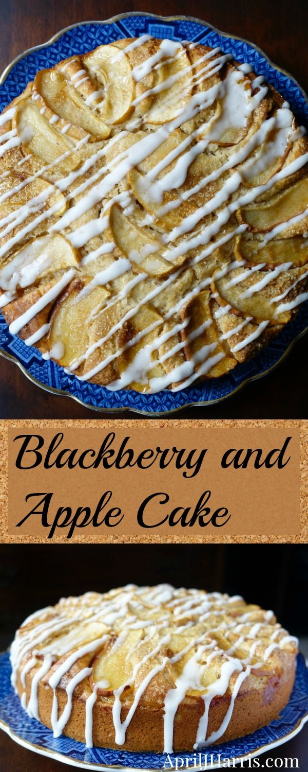 This Blackberry Apple Cake Recipe is a lightly spiced cake is studded with fresh blackberries and topped with red-skinned apples baked to tender perfection.