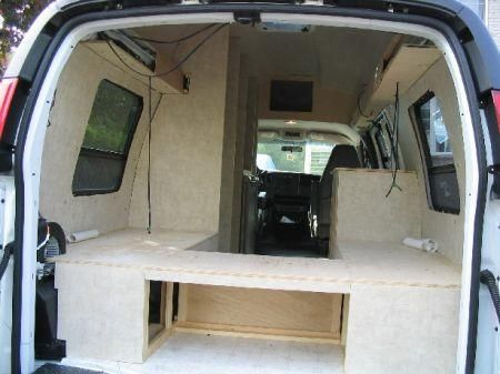 DIY Conversion Van leaving a gap where the be engine would be, putting drawers and acres cubbies along the sides