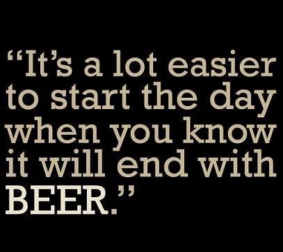 It's a lot easier to start the day when you know it will end with #beer.