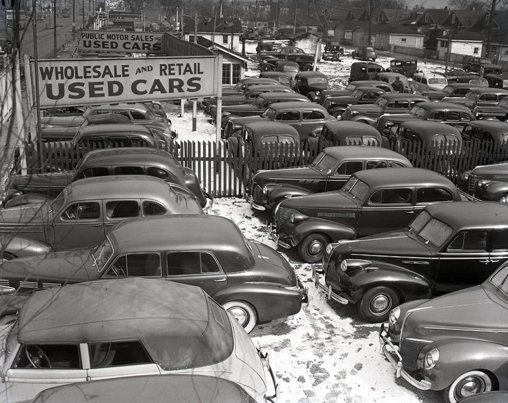 Used cars - mostly 1939 & older