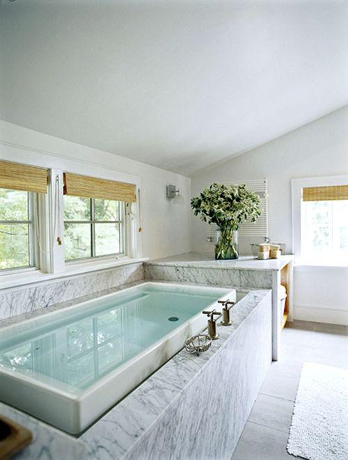 What a tub!: Bathroom Design, Interior, Marble, Dream, Bathroom Ideas, Infinity Bathtub, Beautiful Bathrooms