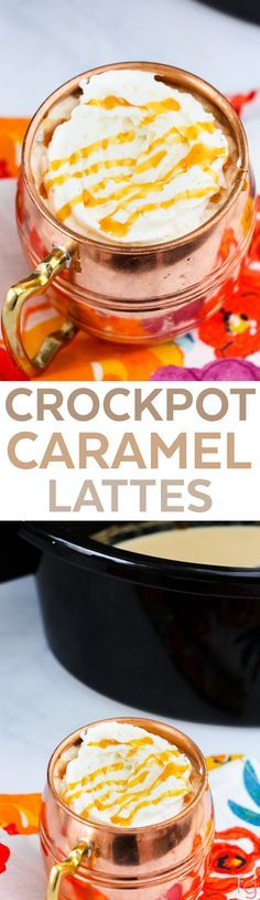 """Crockpot Caramel Latte""---Easy to veganize..."