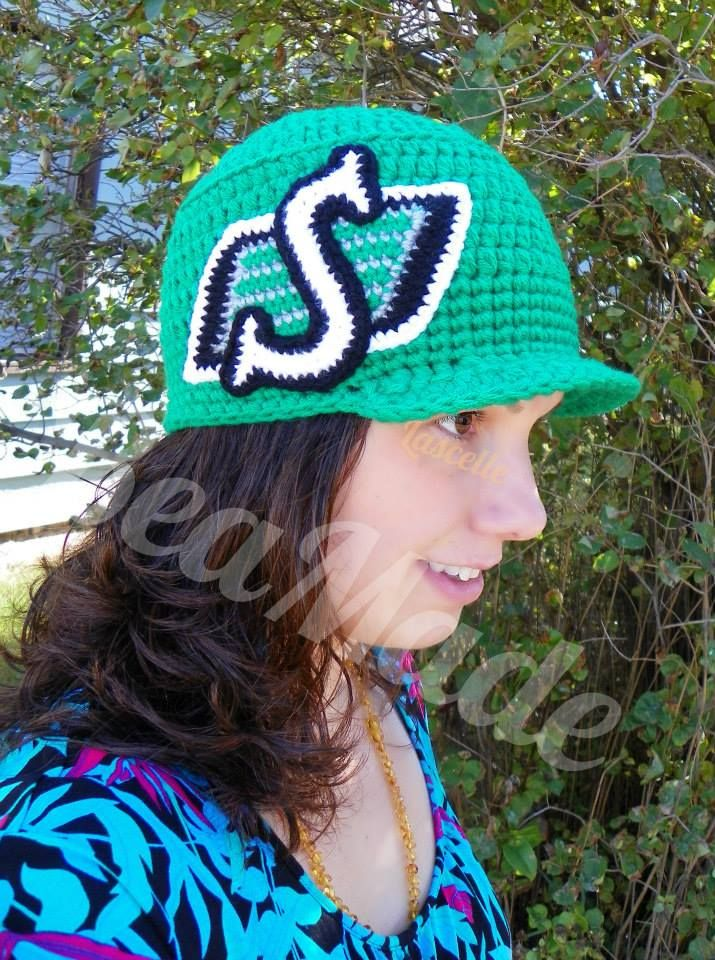 Army Style Roughriders Inspired Team Fan Hat Crochet
