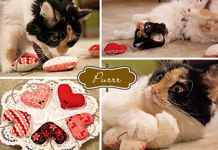 Catnip mice.  Would be cute for the kitty!Valentine'S Catnip, Catnip Mouse, Catnip Mice, Mouse Heart, Heart Mice, Valentine Catnip, Catnip Toys, Catnip Heart, Scrap Fabric