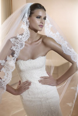I love mantilla veils, especially as it represents my spanish heritage. This is from Pronovias.