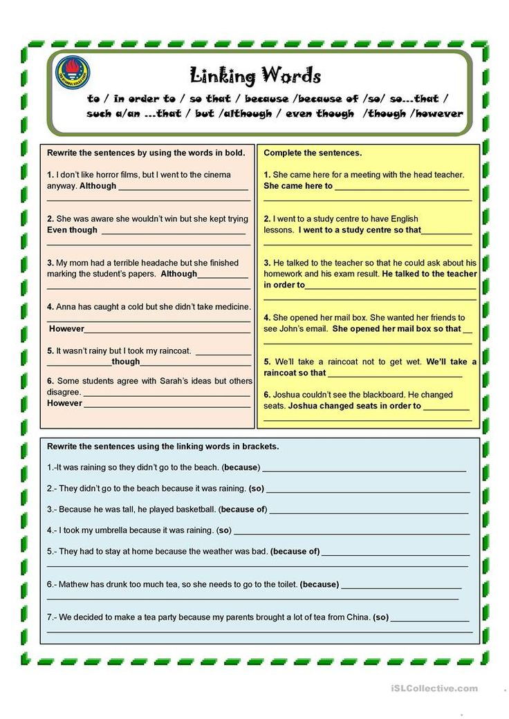 connecting words english essay Linking words/phrases help you achieve this coherence e & cohesion while making your essay more appealing to the examiner as an ielts candidate, you should learn various linking words, their meaning and appropriate use in your writing.