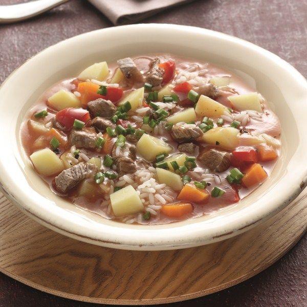 Stevige aardappelsoep met ossenhaas #WWrecept #WeightWatchers #soep