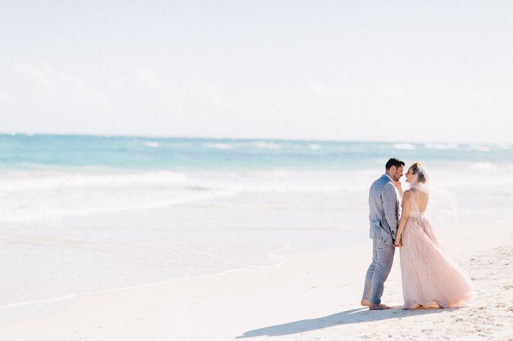 A Romantic Beach Destination Wedding at Akiin Beach Club in Tulum, Mexico