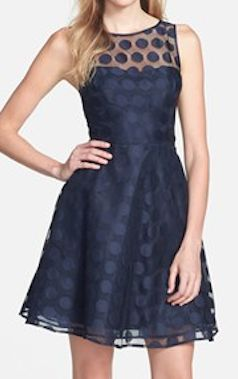 polka dot mesh fit and flare dress  http://rstyle.me/n/fqn6jpdpe
