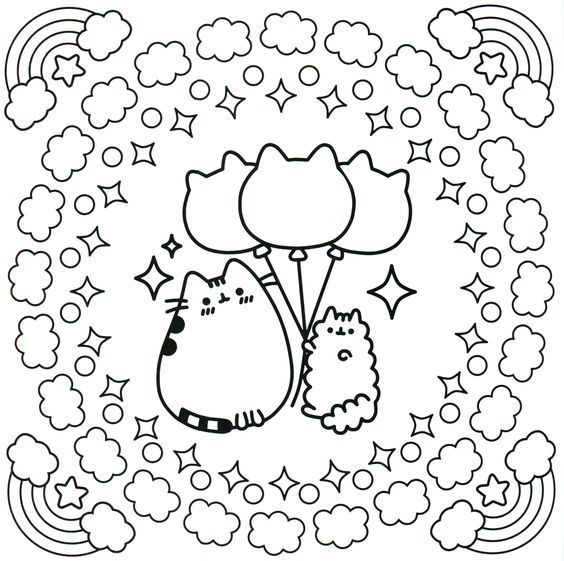 The 38 best coloriage pusheen images on Pinterest | Adult coloring ...