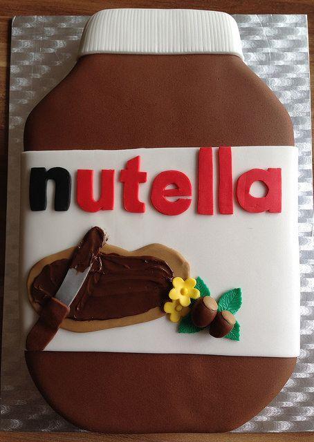 Nutella Jar Cake / Nutella Glas Torte (1) by mehralsnureinetorte, via Flickr