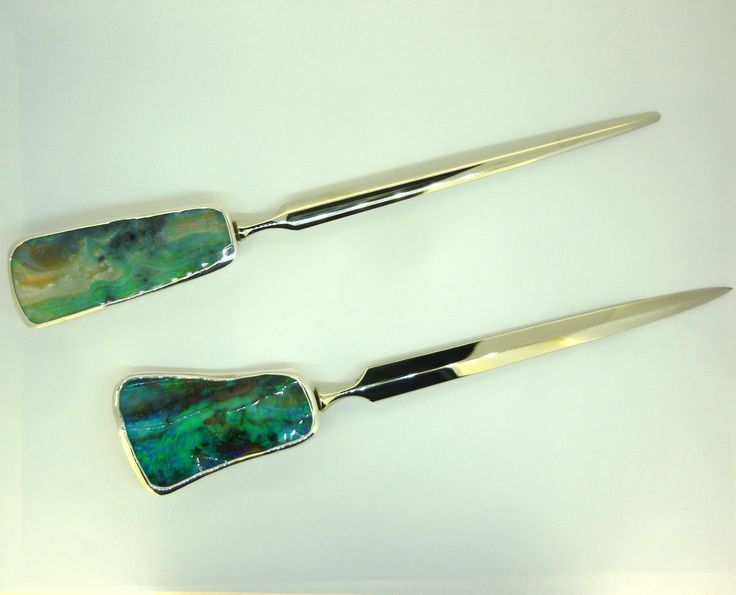 Letter Openers for the person who has everything... #letter-opener #silver #opal #paper_knife