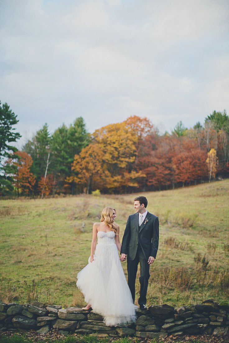 Fall foliage for a charming Vermont wedding. Photography: Our Labor of Love - ourlaboroflove.com View entire slideshow: Fall Wedding Inspiration on http://www.stylemepretty.com/collection/602/