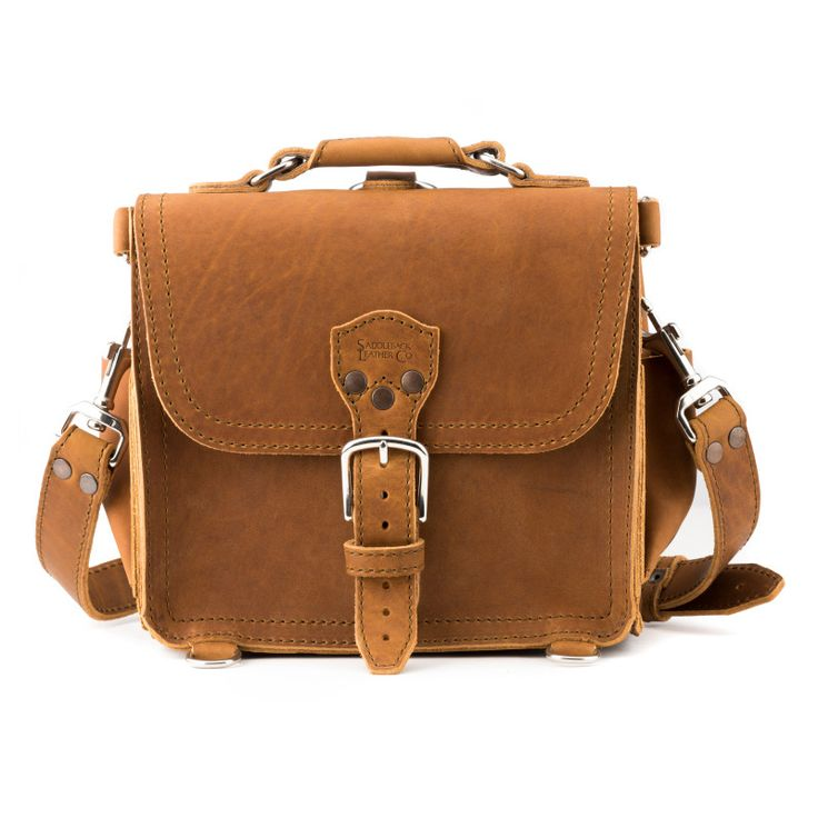 The Saddleback Leather Satchel will bring out the cowboy in you