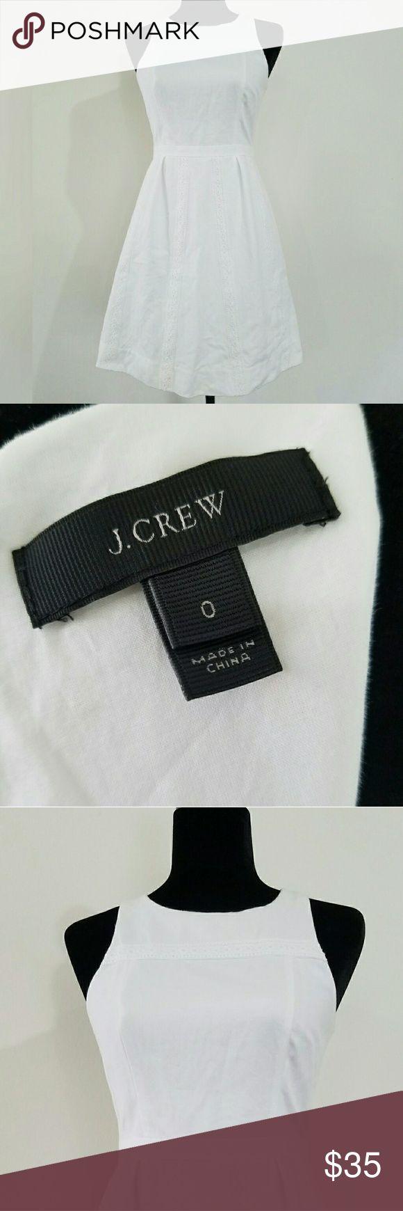 """J. Crew sun Dress Beautiful  White J. Crew Sun Dress. Size 0. 12"""" bust, 13"""" waist, 33"""" lenth.  Excellent condition.  No flaws. J. Crew Dresses"""