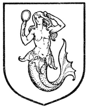 A Complete Guide to Heraldry, 1909, Fig. 434.—Mermaid.