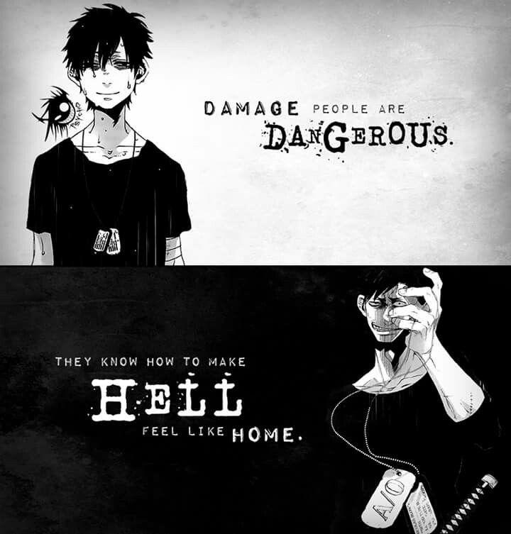 || Las personas dañadas son peligrosas. Saben cómo hacer que el infierno se sienta como en casa. | Traducción ES: @sukigamer88 ||