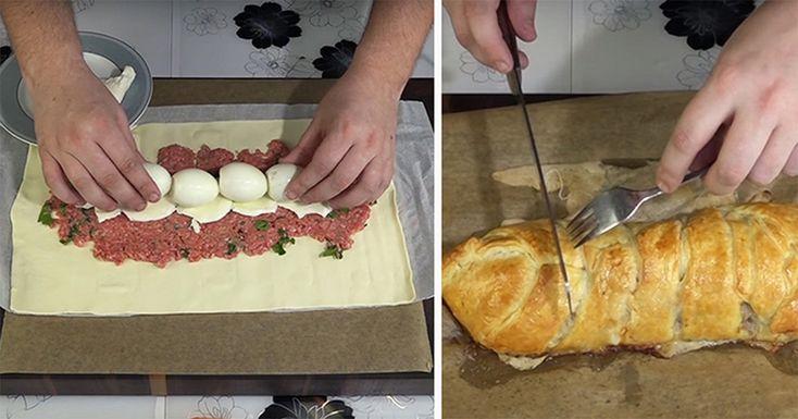Vă prezentăm o rețetă de chec delicios cu carne. Acesta este un deliciu deosebit de aromat, sățios și apetisant, ce poate fi pregătit din cele mai simple ingrediente, mereu prezente în bucătărie. Folosind o combinație mai puțin obișnuită de ingrediente, obțineți un chec cu carne ce iese întotdeauna. Acesta este perfect atât pentru masa de sărbătoare, cât și pentru cina de familie. INGREDIENTE -650 g carne tocată de porc -aluat foietaj -15 g de usturoi -6 ouă -50 g de mozzarella -35 g de…