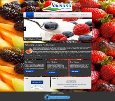 Lakeland Food Company was established eight years ago and is now one South Africa's leading manufacturers of fruit pulp and sauces for yoghurts, desserts and ice creams; savoury blends for soft cheeses and dips; fruit toppings for the bakery industry and purpose-made marinades and sauces for the food service and butchery trade. They recently approached Vertex Central to create their website to extend their reach and maximise their clientele. #CMS #Joomla #webdesign #food #fruit