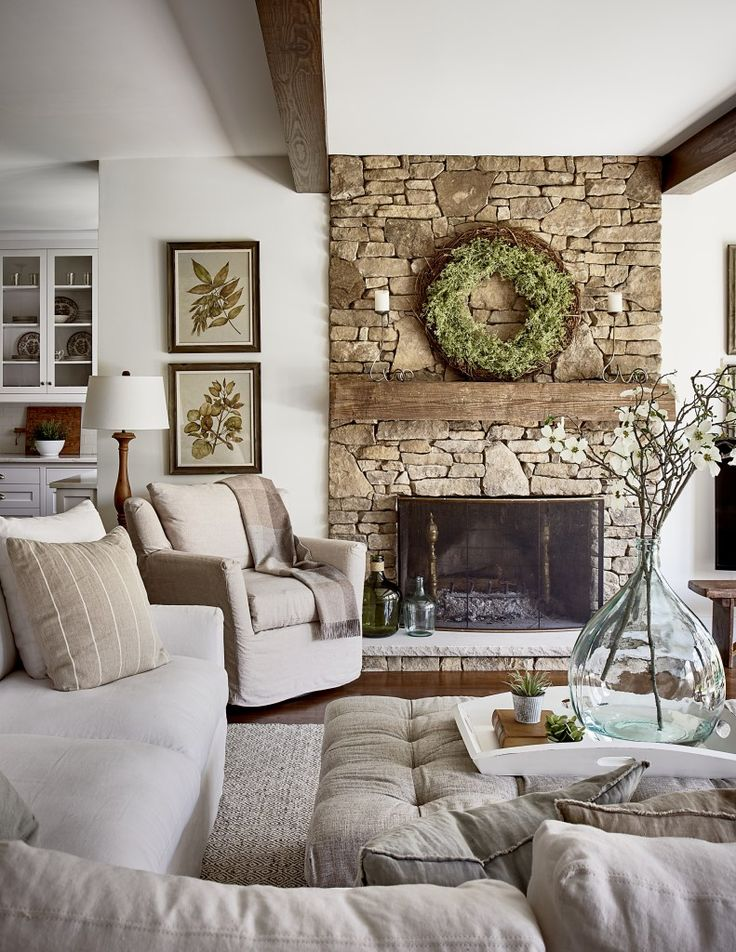 Top 25 best small fireplace ideas on pinterest small - Beautiful living rooms with fireplace ...