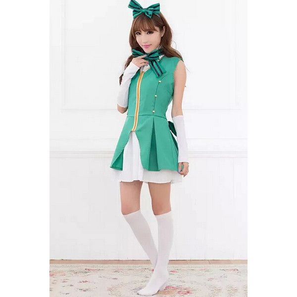 green cute school girl halloween costume 17 liked on polyvore featuring costumes - Cute Halloween Costumes For School