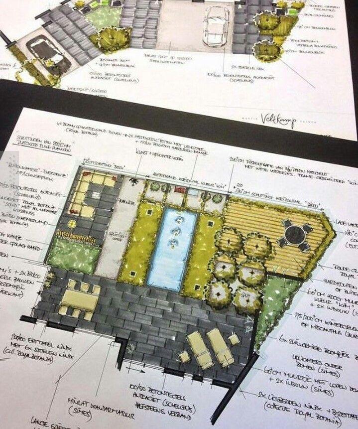 Garden Design Drawing by Martin Veltkamp Gardens