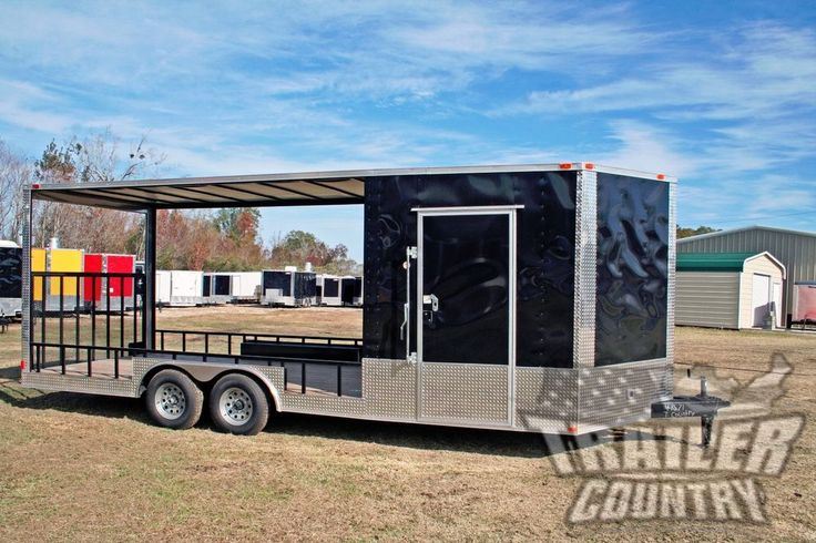 NEW 2016 8.5X22 V NOSE ENCLOSED CARGO UTILITY HYBRID TRAILER TOY HAULER W/ PORCH | Business & Industrial, Heavy Equipment, Trailers | eBay!