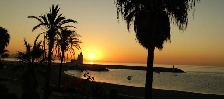 Sunrise in Puerto de la Duquesa, Spain.