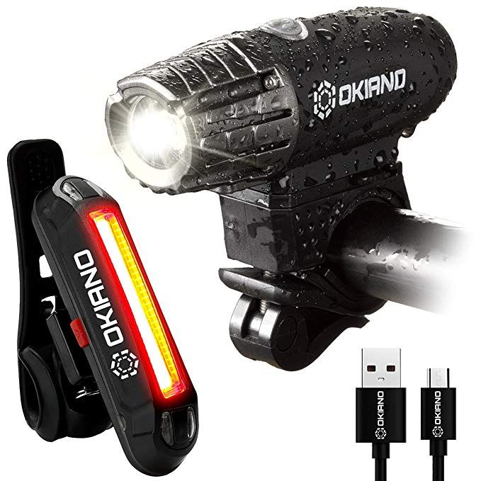 Usb Rechargeable Bike Light Set Super Bright 400 Lumens Bike Headlight 120 Lumens Led High Brightness Bike Tail L Bike Headlight Bike Lights Led Bike Lights
