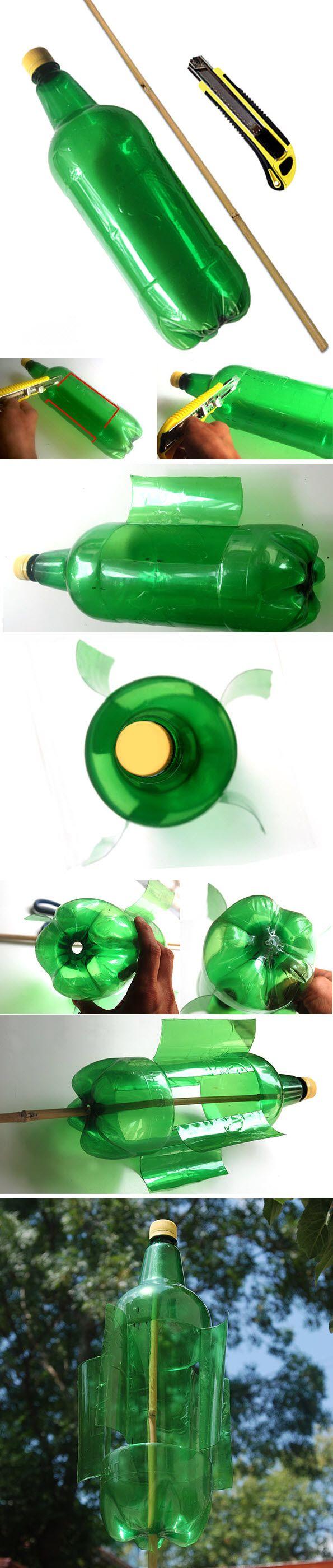 fabriquer un moulin a vent bouteille