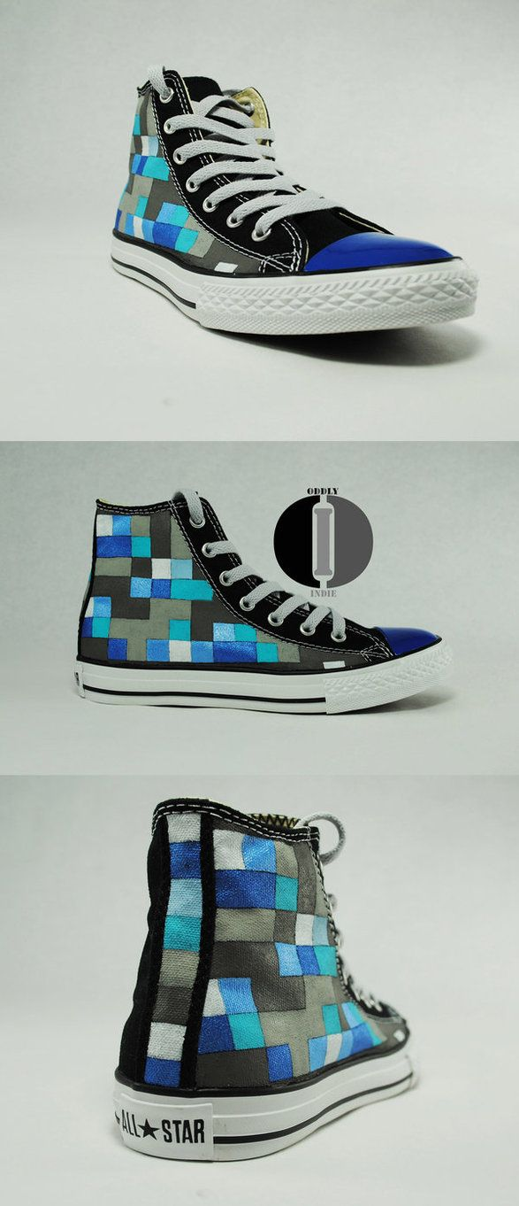 Minecraft Shoes Blue