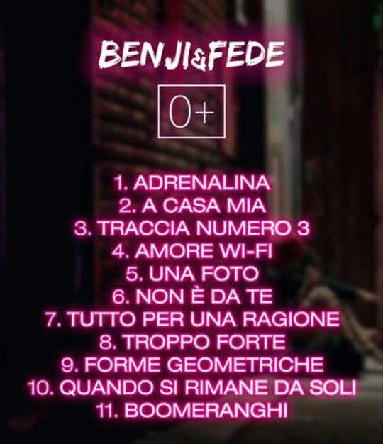 Le canzoni dell'album 0+♥♥♥♥♥