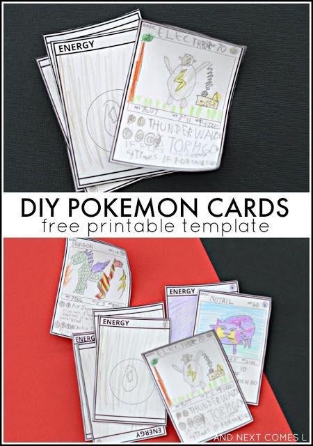 FREE DIY Pokemon Cards. My boys will love this Pokemon craft project.